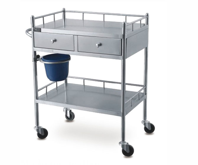 Stainless Steel Hospital Medicine Trolley for BC125