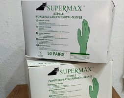 Supermax Sterile Powdered Latex Surgical Gloves